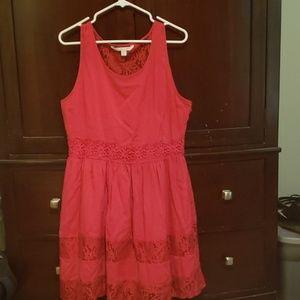 Red summer dress Lauren Conrad Size 16